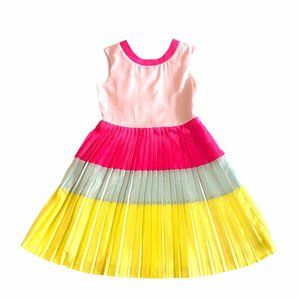 Ted Baker Girls Dress Color Block Pleated Size 10